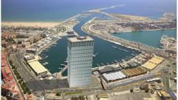 Recreación no oficial de un hotel de 30 pisos en la Marina Real Juan Carlos I.