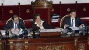 La alcaldesa, Rita Barberá, durante el pleno municipal de enero de 2014.