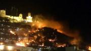 El incendio Cullera fue provocado al disparar un castillo de fuegos artificiales en condiciones atmosféricas adversas