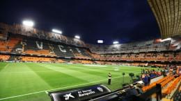 Estadio de Mestalla iluminado