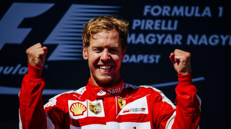 Ferrari y Vettel ofrecen el triunfo en la carrera de Hungría en memoria de Jules Bianchi