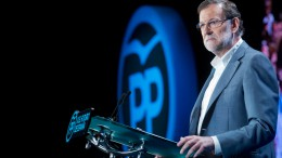 El presidente del Gobierno, Mariano Rajoy en un acto antes del sábado en Valencia, también estará Albert Rivera