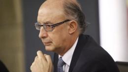 Gastos.Cristobal Montoro, Ministro de Hacienda y Administraciones Públicas