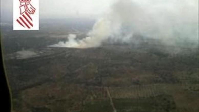 Incendio en Vall d´Alba