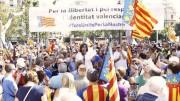 Concentración en defensa de la cultura i la llengua valenciana