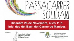 Cartel del pasacalle solidario organizado en Manises