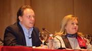 Daniel Lacalle, economista, y Carmen de Rosa, Presidenta del Ateneo Mercantil de Valencia