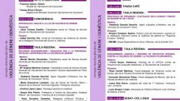 Programación con los actos de la I Jornada Interdisciplinar de Violencia de Género en Carcaixent