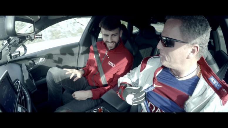 Los jugadores del FC Barcelona prueban la conducción autónoma de Audi