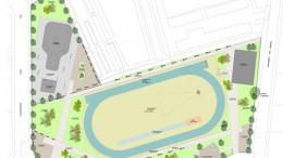Maqueta infográfica del proyecto del nuevo parque recreativo-deportivo de Quart de Poblet