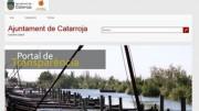 Anuncio del Portal de Transparencia en la página web del Ayuntamiento de Catarroja