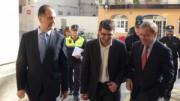 El delegado del Gobierno de la Comunidad Valenciana, Juan Carlos Moragues, preside la junta local de seguridad de Ontinyent junto al alcalde, Jorge Rodríguez