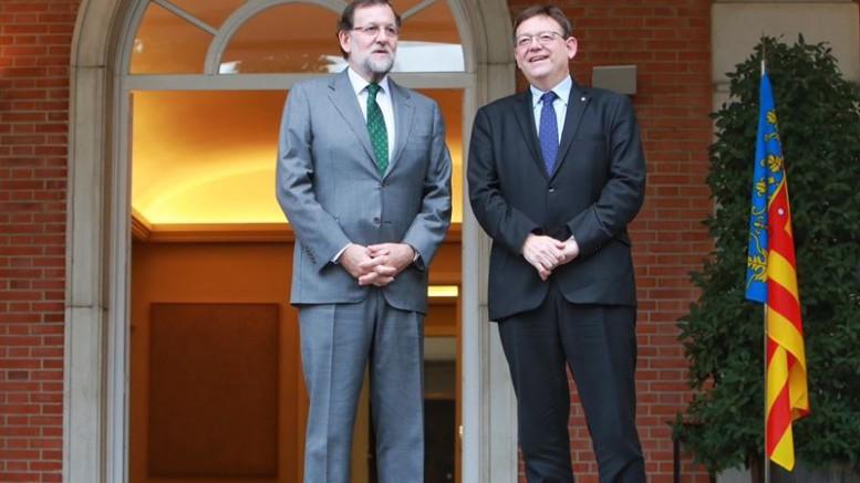 """Puig solicita una entrevista urgente con Rajoy para acabar con el """"maltrato"""" en inversiones de los Presupuestos Generales del Estado a la Comunitat Valenciana"""