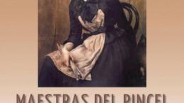 Cartel de la exposición Maestras del pincel que muestra el arte pictórico femenino