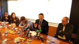 Ximo Puig, presidente de la Generalitat, ante los medios