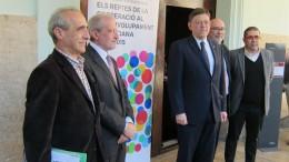 Ximo Puig y Esteban Morcillo tras el acto de inauguración de la conferencia