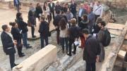 Miembros del Colegio de Arquitectos de Valencia en su visita a LLíria