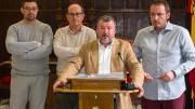 El alcalde de Sagunt, Quico Fernández, y concejales del equipo de gobierno