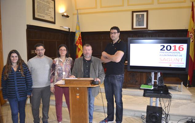 Presentación del proyecto de presupuestos de Sagunt para 2016