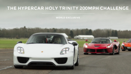 "Auto Vivendi anuncia ""The Hypercar Holy Trinity 200 mph Challenge"" por 7.500£"