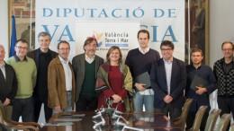 La diputada Pilar Moncho en la firma de convenios de promoción turística