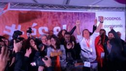 Mónica Oltra celebra el resultado electoral