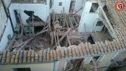 La vivienda tras su derrumbe en la localidad de El Puig