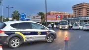 Un control policiial en Alboraya