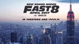 Vin Diesel muestra el cartel de Fast & Furious 8