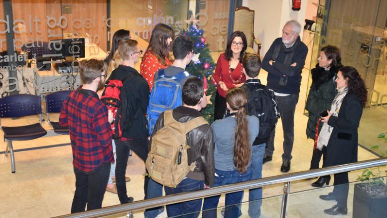 Los alumnos americanos visitan el Ayuntamiento