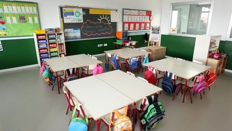Una aula de infantil de un colegio valenciano