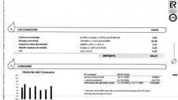 Una factura de electricidad que conlleva problemas de pobreza energética