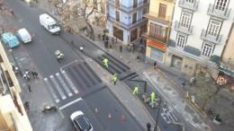 Empiezan a cortar al tráfico los alrededores de la Lonja