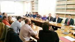 Alcaldes de la Declaración de Xirivella con el secretario general de Insfraestructuras en Madrid por la línea C3