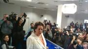 Rita Barberá en la rueda de prensa
