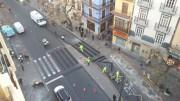 Obras en el entorno de la Lonja de Valencia