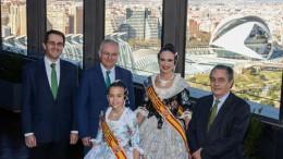 UNESCO, Las Falleras Mayores visitan Iberdrola