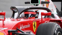 Raikkonen pone a prueba el sistema de cabina de Halo F1
