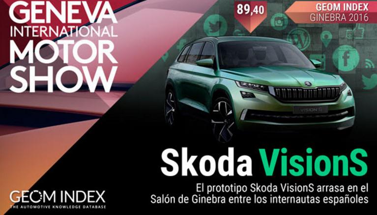 El prototipo Skoda VisionS arrasa en el Salón de Ginebra entre los internautas españoles