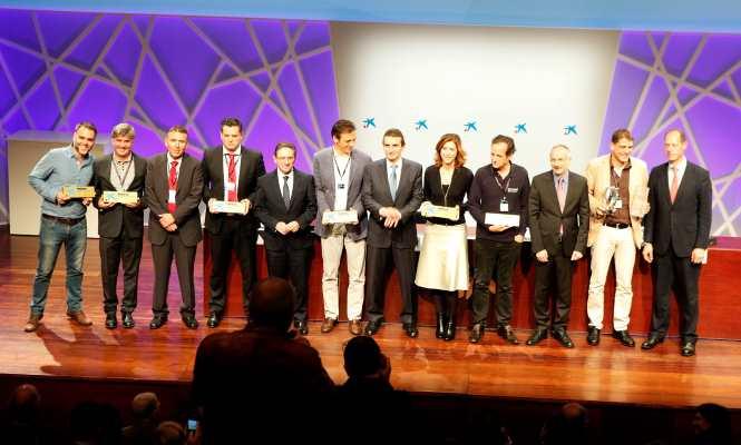 Entrega de los premios a emprendedores en una de las convocatorias