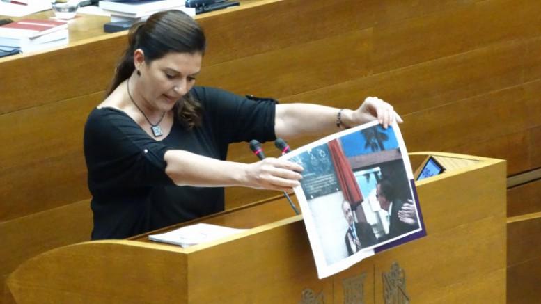 Fabiola Meco, placas corruptos