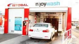 Una de las máquinas de lavado de automoción de Istobal