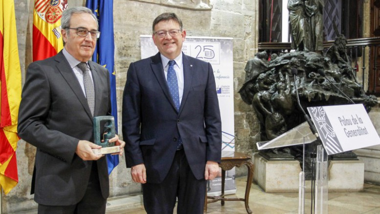 Montoro, Ximo Puig en la entrega de premios de premios anuales de divulgación financiera