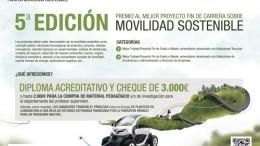 Convocada la 5ª Edición del Premio al mejor proyecto Fin de Carrera en Movilidad Sostenible