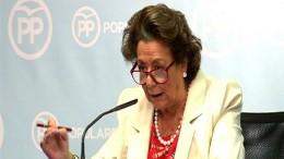 Rita Barberá, exalcaldesa de Valencia y actual senadora territorial designada por Les Corts. Caso blanqueo de capitales