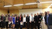 María José Salvador en la entrega de los premios a la investigación a estudiantes del Máster de Arquitectura Avanzada, Paisaje, Urbanismo y Diseño de la UPV
