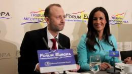 El sindic de C's en Les Corts, Alexis Marí, durante el desayuno informativo Fórum Europa Tribuna Mediterránea