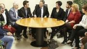 Ximo Puig, president de la Generalitat Valenciana, reunido con representantes de los sectores productivos de Novelda
