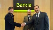 Firma de convenio entre Bankia y Bbooter