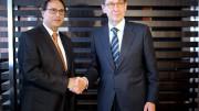 Firma Convenio Presidente de Bankia. Sede Bankia